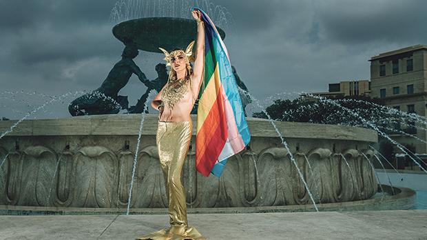 Transgender model Karly Naudi is the Grand Marshall and face of this year's Pride campaign. Photo: Stefan Varga