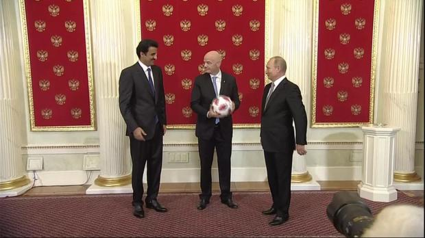 Watch: Russia hands over World Cup hosting duties to Qatar