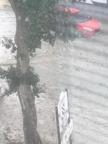 Flooding in Valley Road.