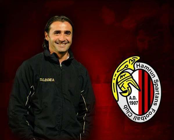 Giovanni Tedesco unveiled as Ħamrun Spartans coach. Photo: Ħamrun Spartans