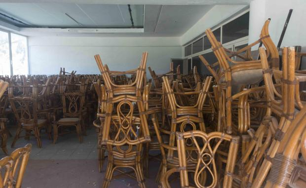 Lots of chairs, but nobody to sit on them. Photo: Alessandro Tesei