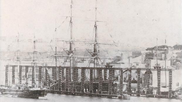 The Anglo-Maltese Hydraulic Dock inaugurated at Pietà on January 23, 1873, was an alternative to graving docks.