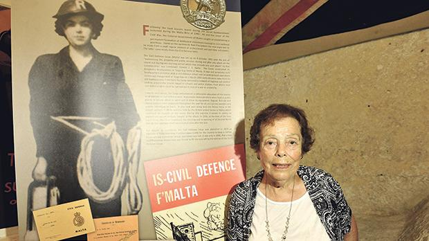 Mary Debono was the first woman to join the Civil Defence in the 1950s. Photo: Chris Sant Fournier