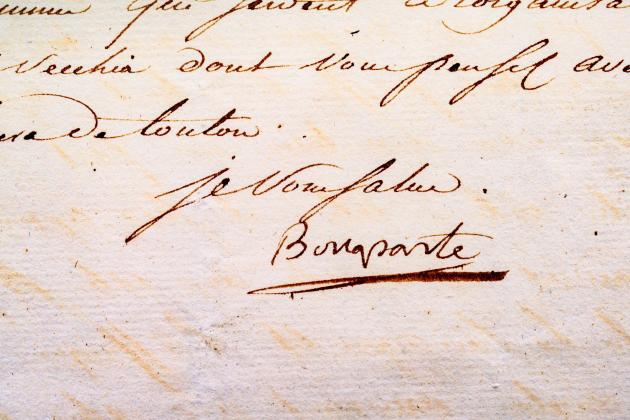 Napoleon's 1798 letter to remain on display in November