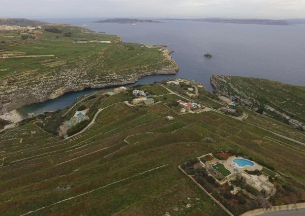 Villas are seen from the air above the plateau near Mġarr ix-Xini at Ta' Ċenċ, Gozo on February 23, where MEPA is considering an application for 15 more villas to be built. Photo: Matthew Mirabelli