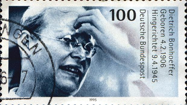 A stamp printed in Germany shows Dietrich Bonhoeffer, Protestant theologian, participant of German resistance movement against Nazism and executed in April 1945.