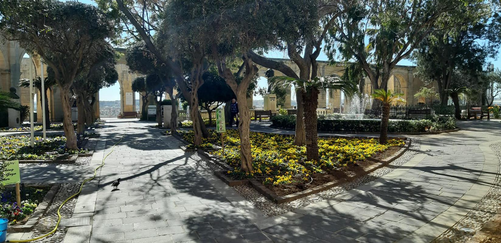 An empty Upper Barrakka garden on Friday. Photo: Chris Sant Fournier