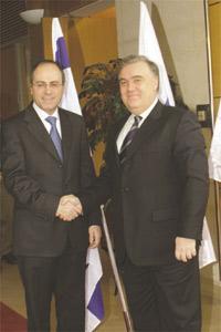 Silvan Shalom and Michael Frendo.