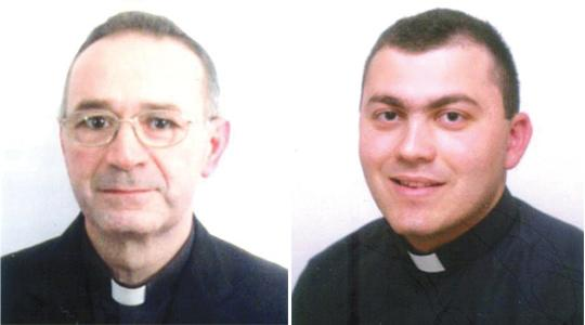 Fr Frans Abdilla (left), Fr Josef Mifsud (right).