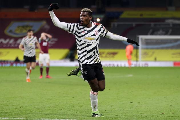 Pogba takes Man. Utd top with win at Burnley