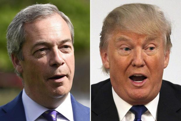 Best friends: Nigel Farage and Donald Trump.