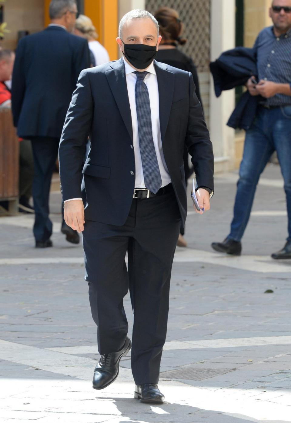 Keith Schembri on his way to court on Tuesday.