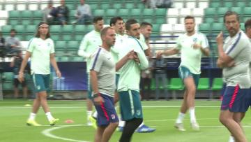 Watch: Atletico Madrid train ahead of Real Madrid clash