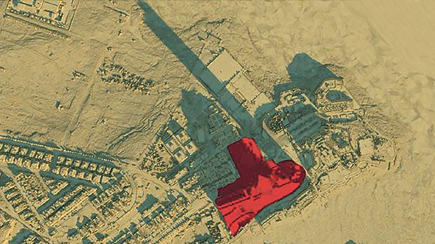 Model of project's shadows on December 21 at 10am.