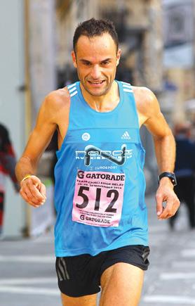 Going places... Mellieħa AC runner Andrew Grech is aiming to challenge for the Malta Marathon title in February. Photo: Wally Galea