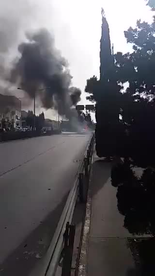 Watch: Caravan catches fire by Addolorata cemetery