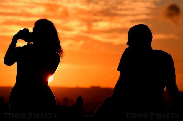 Sunset over Valletta on October 19. Photo: Jonathan Borg