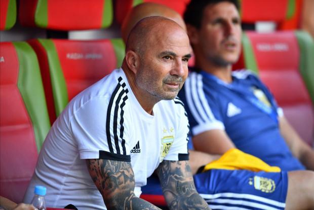 Argentina coach Jorge Sampaoli.