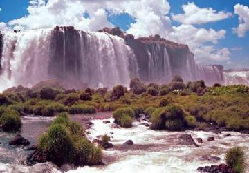 The stunning Iguazu Falls are 10 hours by bus from Curitiba.