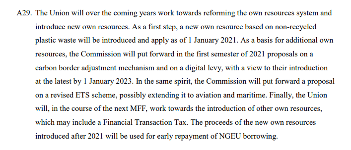 A new financial transaction tax may be included.