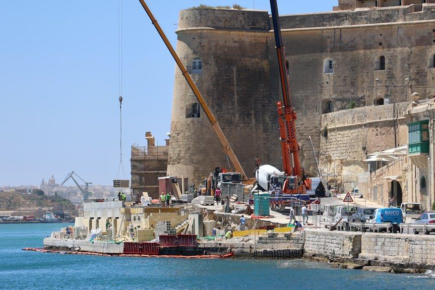 The works at Ta' Liesse in Grand Harbour. (Infrastructure Malta)