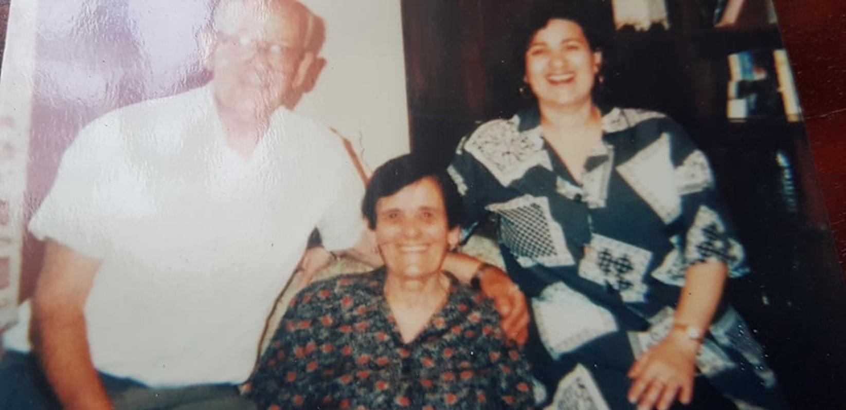 Gorga with her late husband, Joseph, and their daughter Josette.