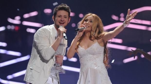 The winning duo from Azerbeijan. Photo: Alan Douit, EBU