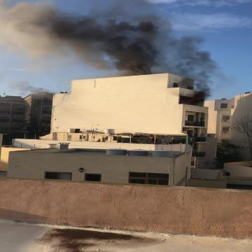 Man found dead in Msida apartment following fire  | Smoke bellows out of the apartment, in this video sent in by a Times of Malta reader.