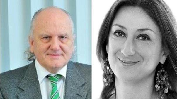Alfred Mifsud and Daphne Caruana Galizia.