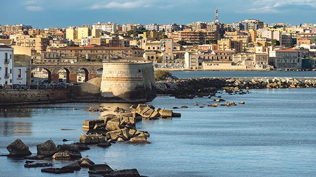 The city of Syracuse seen from Ortigia island. Photos: Shutterstock.com