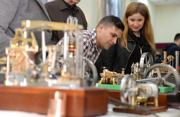Members of the public admire the models on display during an exhibition held at the old railway station in Hamrun on January 28. Photo: Matthew Mirabelli