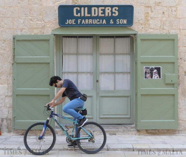 A cyclist, with his noiseless mode of transport, found a perfect match in Mdina, the Silent City on October 9, where buildings steeped in history look down on modern-day life. Photo: Matthew Mirabelli