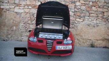 Watch: 'Alfa male' Aaron turns car into towable grill