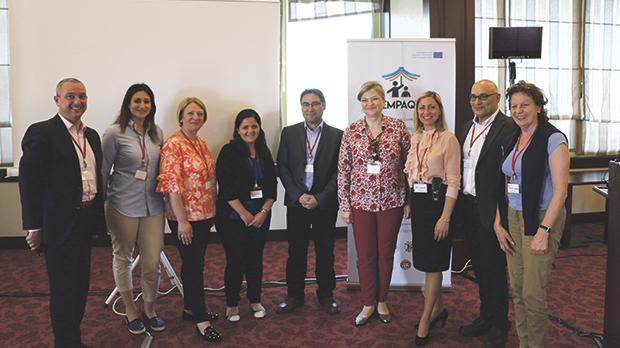 The Maltese delegation with the conference organisers in Istanbul.