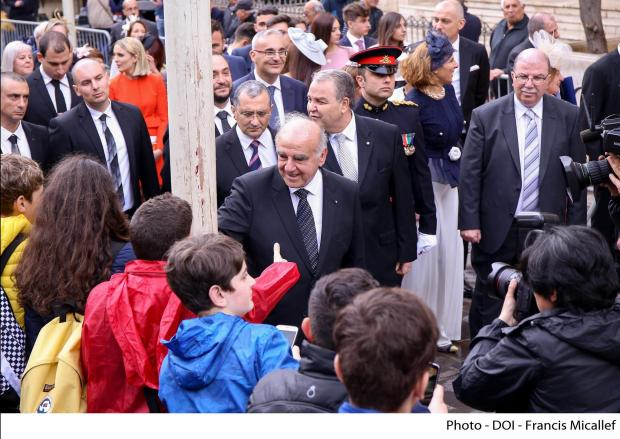 The new President greets well-wishers in Valletta.