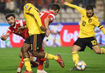 Hazard lifts Belgium in Euro qualifying