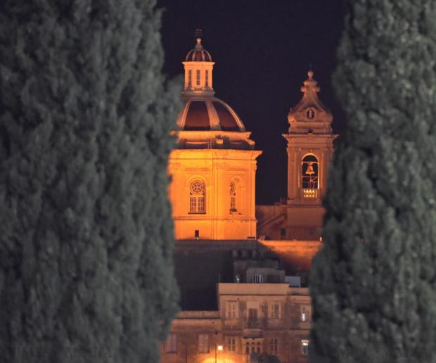 Our Lady of Victories Church in Senglea is seen from the Hibs Stadium in Corradino on December 1. Photo: Mark Zammit Cordina