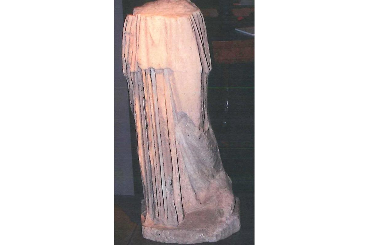 The archaeological artifact 'Fragment of Myron Samian Athena. Photo: ARTnews.com