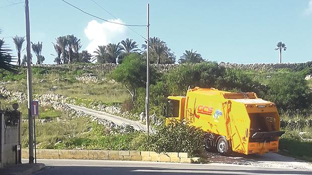 The concrete road at the heart of the controversy in Baħar iċ-Ċagħaq.