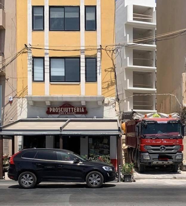 Demolition work next door to the Gzira establishment.