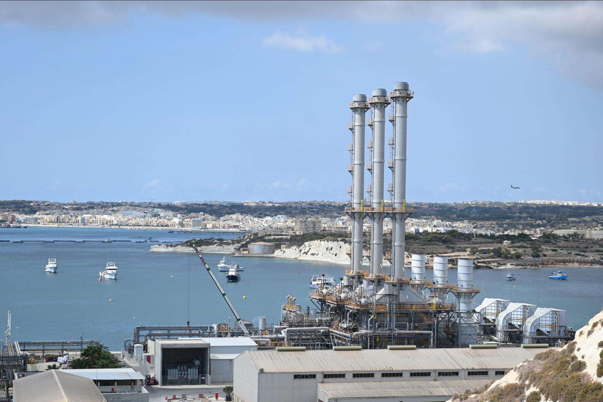 The Electrogas power station in Delimara. Photo: Matthew Mirabelli
