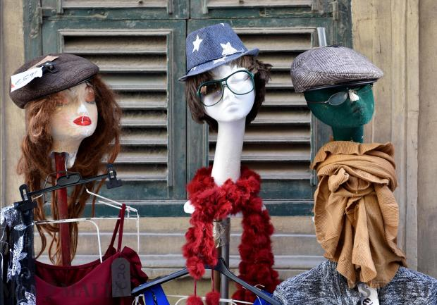 Three mannequins are exhibited outside a shop in Valletta on January 18. Photo: Mark Zammit Cordina