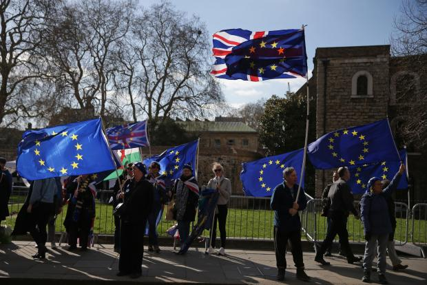 EU leaders pushed back Brexit day to April 12 after meeting May in Brussels last week.