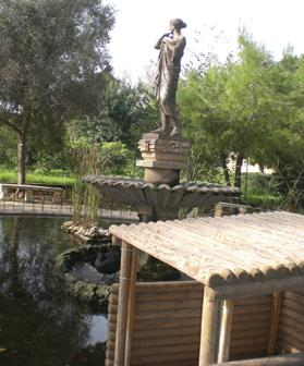 The statue of Venus from the Argotti's nymphaeum now stands over a fountain at San Anton Gardens, Attard.