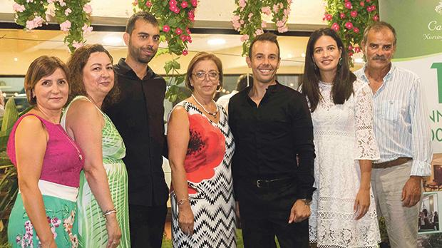 Leonardo Barilaro and Nico Darmanin together with Casa Antonia's staff members (from left) Claire Busuttil, Elaine Naudi, Antonia Attard, Dr Sarah Cassar and Edward Vella.