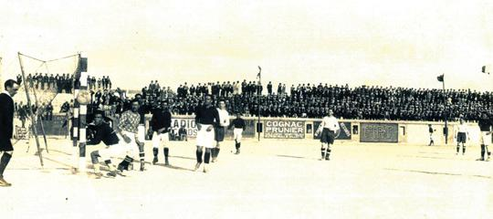 Scene from a Cassar Cup qualifier from the 1920s. Note the hundreds of Service personnel among the crowd as this charity competition was popular among the Maltese and Services alike.