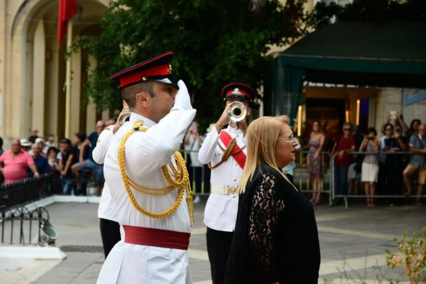President Coleiro Preca at the official ceremony on Saturday. Photo: Jonathan Borg