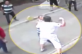 Boxer holds off mob in Istanbul street fight