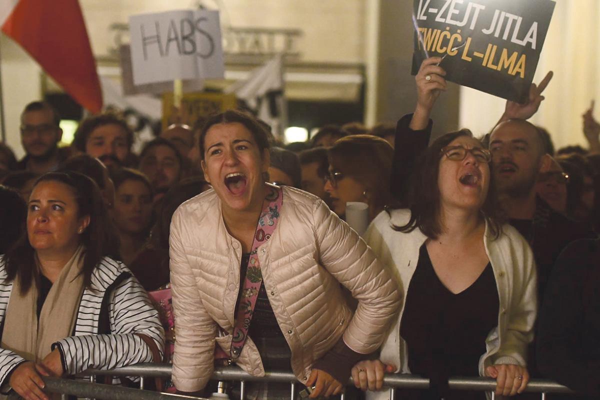 Successive protests were held in Valletta. Photo: Jonathan Borg