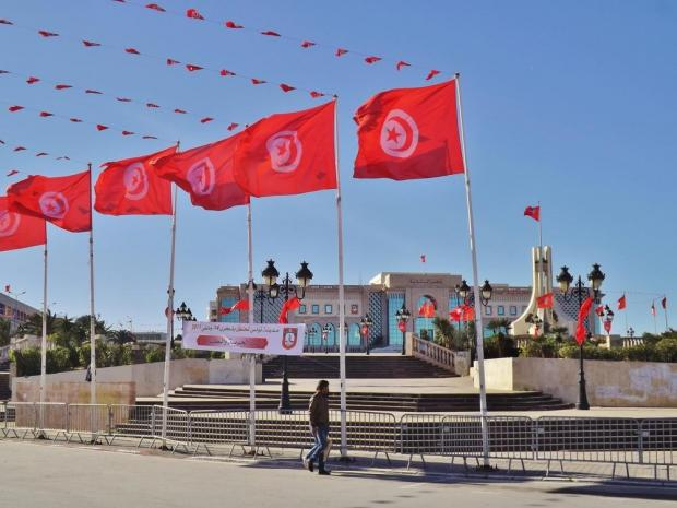 The parliament building in Tunisia.